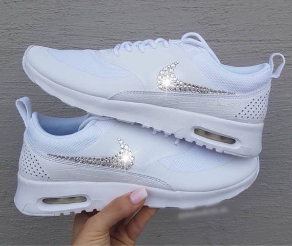 Women's Sneakers Air Thea Shoes Bling Max Swarovski Crystal Nike Custom pxz0Fq