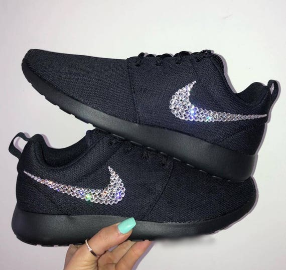 Diamond Swarovski Women's Crystal Bling Nike Running Shoes Roshe Nike UR6YWqTwA
