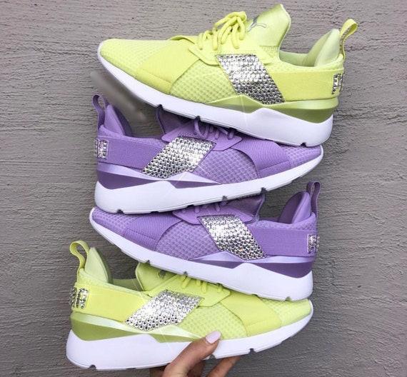 Yellow Purple EP PUMA Diamond Women's MUSE Bling Neon Swarovski H4wRRS