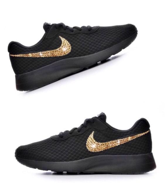 Bling Femme Nike diamant or Swarovski Crystal Baskets Tanjun 1qvCC