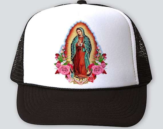 Our Lady Virgin of Guadalupe Hat, Virgin Mary Truckers Hat Baseball Cap