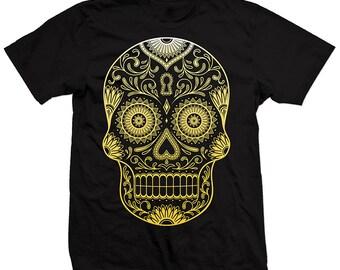 Sugar Skull T-shirt , Skull T-shirt, Day of the Dead, Dia de los Muertos, Holiday, unisex tee, graphic T-shirt Skull shirt cool t-shirt gift