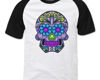 Sugar Skull T-shirt , T-shirt Day of the Dead Dia de los Muertos Mexican Holiday unisex tee graphic T shirt Skull shirt cool t-shirt gift