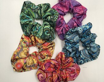 Paisley Scrunchies, 5-pack from the Paisley Design Collection