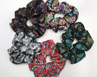 Day of the Dead Sugar Skulls Scrunchies, 5-pack from the Sugar Skulls Collection