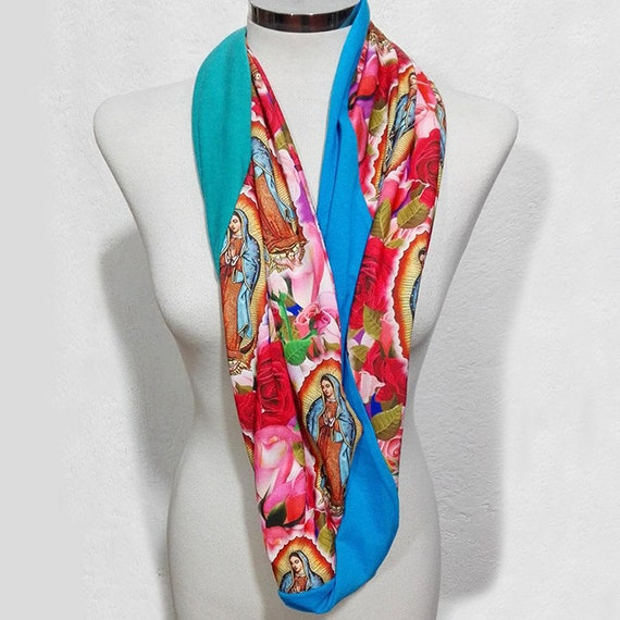 Our Lady of Guadalupe Infinity Scarf, Loop Scarf, Circular Scarf