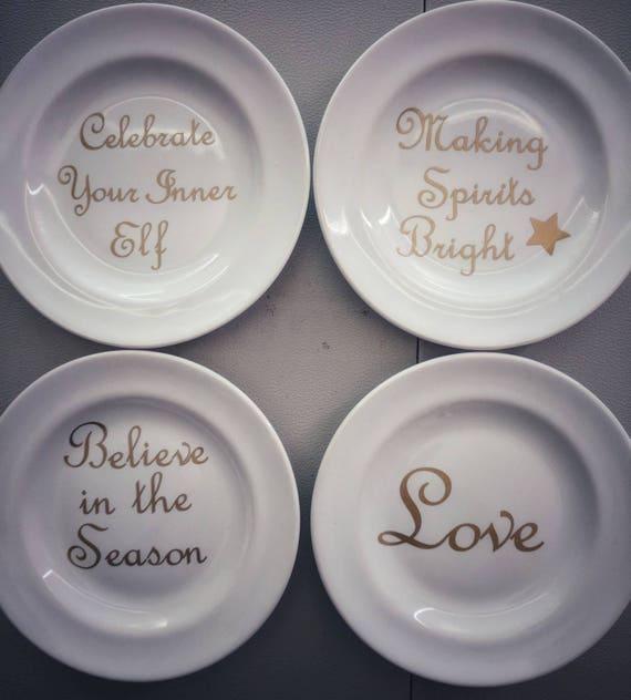 christmas appetizer plates etsy