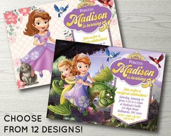 Sofia the First Invitation, Sofia the First Birthday Party Invitation, Sofia the First Invite Sofia the First Party Printable Princess Sofia