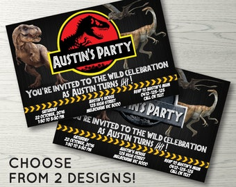 Jurassic World Invitation, Jurassic Park Invitation, Dinosaur Invitation, Dinosaurs Birthday Party, Jurassic World Birthday Invitation