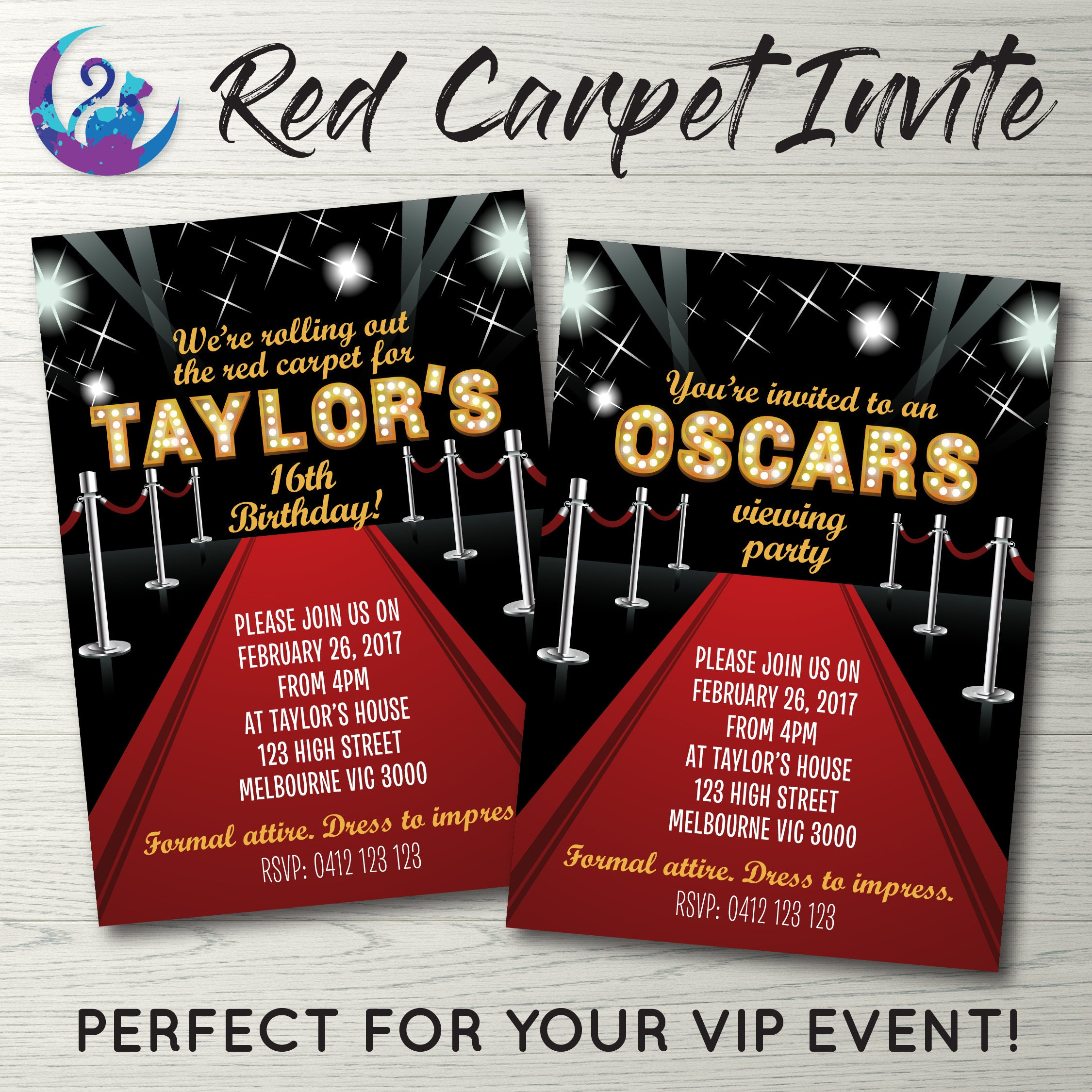 Fancy Oscar Party Invitations Illustration - Resume Ideas ...