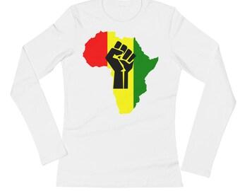 Revolutionary But Gangsta - Ladies' Long Sleeve T-Shirt