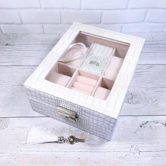 Personalised Ladies Jewellery Box Ladies Trinket Box Personalised Jewellery Box Personalised Gift Valentines Gift For Girlfriend