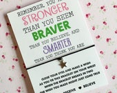 You are stronger, braver, smarter than you believe wish string Friends wish string Buy 5 get 1 free
