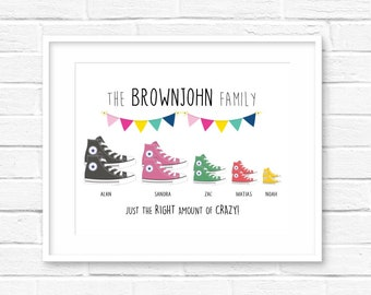 b3a4ed33761e13 Personalised family converse print! Personalised family print! Personalised  converse print! UK seller! Fast dispatch!