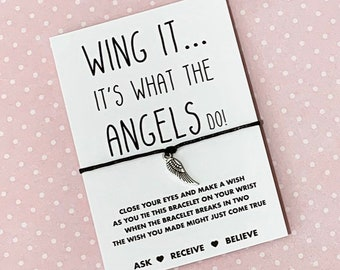 Angel Wing Wish String, angel Wing Wish bracelet, angel Wing Charm Bracelet! Buy 5 get 1 free!