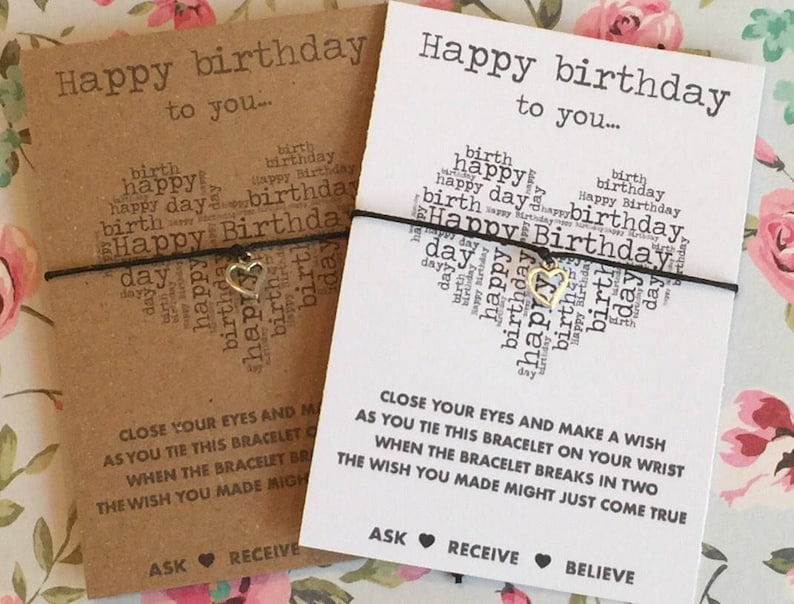 Birthday Wish String Bracelet