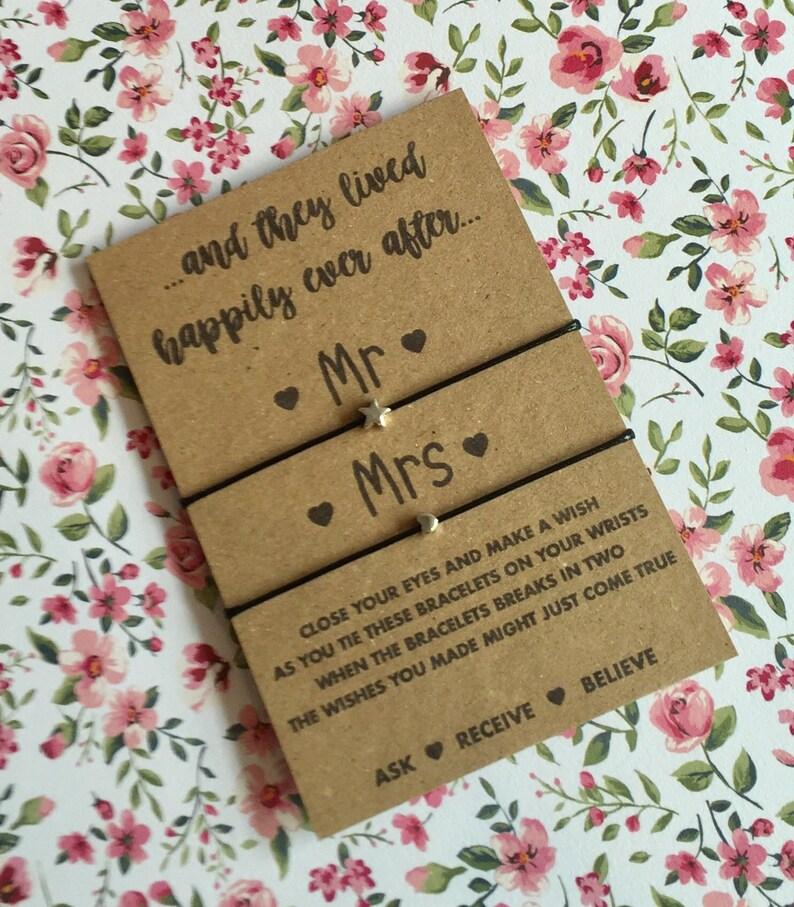 Mr /& Mrs Gift BUY 5 GET 1 FREE! Wedding Gift Mr /& Mrs wish string bracelets