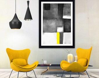 Abstract art minimalist print monochrome print black and white print scandi print hygge print modern wall art print contemporary print