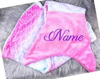 Personalized Children's Mermaid Blanket