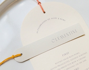 Arched/Rounded Slim Placecards with Fine Twine - PLEASE READ LISTING
