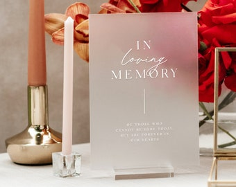 Frosted Acrylic In Loving Memory Sign with Acrylic Block Stand - PLEASE READ LISTING