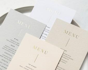 Gold Foiled Card Menus - PLEASE READ LISTING