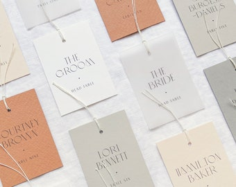 Escort Cards with Fine Twine - PLEASE READ LISTING