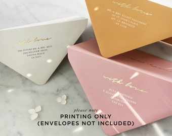 Address Printing (envelopes not included) - PLEASE READ LISTING