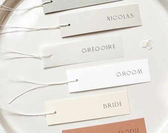 Slim Placecards with Fine Twine - PLEASE READ LISTING