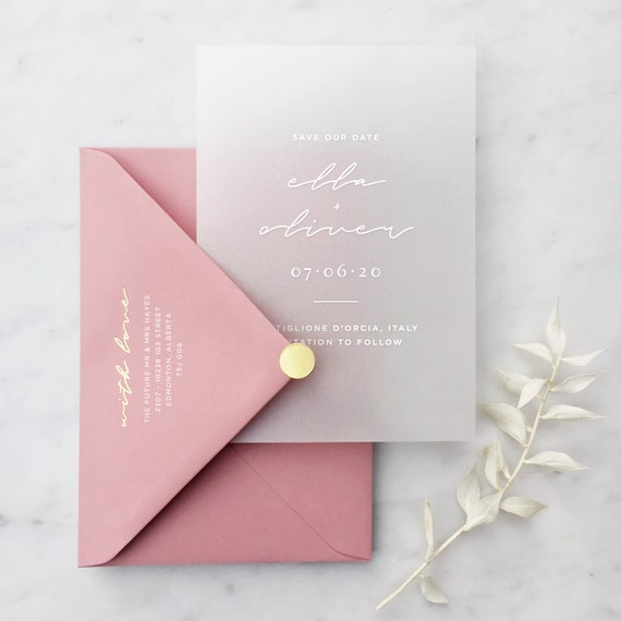 D5 Free envelopes 10 Wedding save the date cards personalised