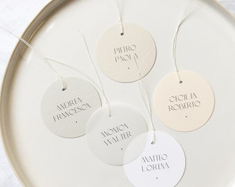 Round Placecards with Fine Twine - PLEASE READ LISTING
