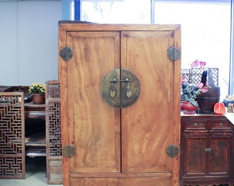 Vintage Chinese 2-Door Cabinet