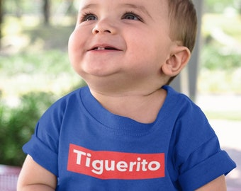 Dominican Republic Tiguere Baby to Toddler Boy Tshirt - Tiguerito Infant Fine Jersey Tee (6 months to 24 months) Tigueraje Dominicano Total