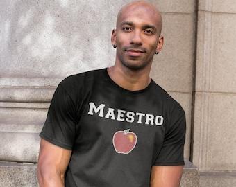 Maestro Gift, Male Spanish Teacher Gift, Chalkboard Style Spanish Teacher Shirt, Shirt for Teachers, Gift for Teacher Unisex T-Shirt
