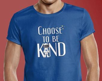 Choose to be Kind Anti-Bullying Tshirt - Wonder #ChooseKind Unisex Adult short sleeve t-shirt - Teacher School Counselor Kindness Tee