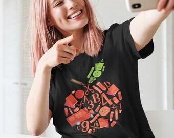 An Apple for My Teacher - Cute Unisex Jersey Short Sleeve Tee Shirt - Gift for Teacher T-shirt