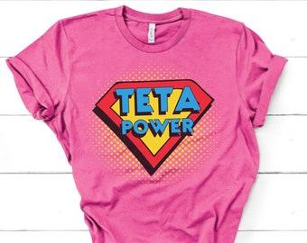 Breastfeeding Support Tshirt, Teta Power, Apoyo a la lactancia, Spanish Unisex short sleeve t-shirt, Mom Gift, Breastfeeding Top, Mama Gift