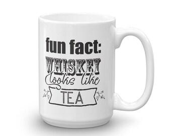 Funny Whiskey Lover Gift Mug - Tea Drinker Gift Mug - Gift for Whiskey Drinker - Co-worker Gift - Gift for Tea Lovers - Boss, Secretary Gift