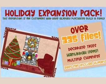 Holiday Expansion Pack| Holiday Pack for build a bundles| Object Clipart| DIY | PNG clipart