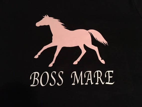 Horse Vinyl Decal Boss Mare Vinyl Decal
