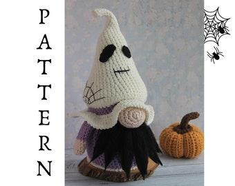 Crochet Ghost gnome pattern, Halloween Ghost pattern, Amigurumi Ghost gnome