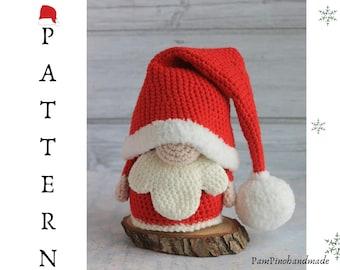 Santa crochet gnome, Amigurumi santa gnome, Christmas Santa gnome