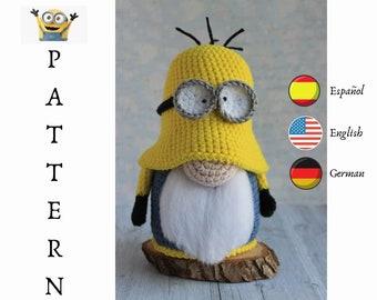 Crochet Minion Gnome pattern, amigurumi minion, crochet disney pattern