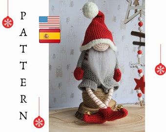 Crochet Christmas gnome pattern, Xmas gnome pattern, Christmas decoration, Christmas gnome
