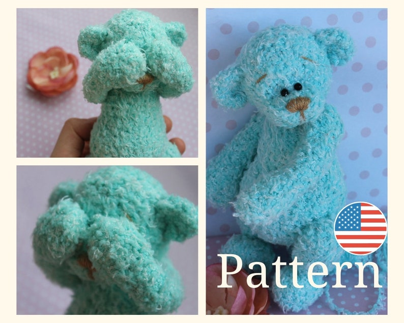 graphic about Teddy Bear Pattern Printable referred to as Teddy undertake routine- Amigurumi Teddy, crochet go through tutorials, Standard Teddy Toy PDF Guide -Printable (Inside English,inside of Russian)