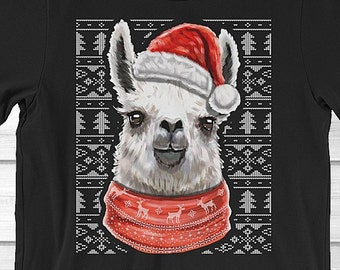 Llama Christmas Sweater Shirt Cute Llama Shirt For Women Etsy