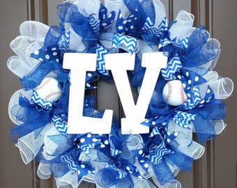 Custom Baseball Wreath