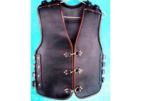Motorcycle vest  Leather vest chopper vest Biker kutte moto vest