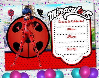 ladybug invitations etsy