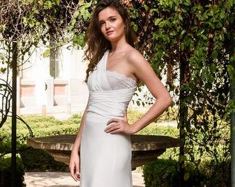 a0eb37f39f6 Mermaid wedding dress convertible Greek style. Bohemian Style convertible  wedding dress